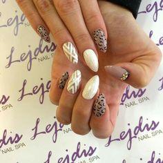 Lakiery hybrydowe SPN UV LaQ 511 Nude, 502 My wedding dress, 628 Golden Eye, Nails by Asia Lejdis Nail SPA #spnnails #uvlaq #inspiracje #paznokcie #nailure #nails