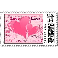 Love stamps design.  $21.65  per sheet of 20.  http://www.zazzle.com/blossomcards