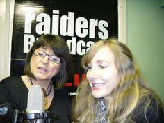 Madalyn Morgan interviewing singer-songwriter LizzieSpit on Raiders Broadcast 2010
