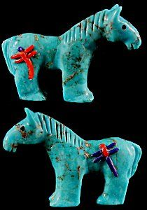 Clissa Martin | Turquoise  | Horse with inlay   | Price: $75. +  shipping | Texas sales tax applies to Texas Residents! | CLICK  IMAGE for more views & information. | Authentic Zuni fetishes direct from Zuni Pueblo to YOU from Zunispirits.com!