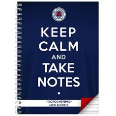 Personalised Rangers Keep Calm Notebook  from Personalised Gifts Shop - ONLY £9.99