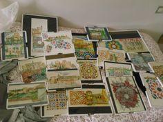 varios dibujos de acuarelas tematica de la ciudad de Granada Alhambra.españa