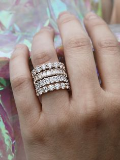 Eternity bands have mega WOW factor. The Radiant and Emerald Cut Diamond Eternity Bands are available in 14k yellow gold, white gold and rose gold. These beauties won't go unnoticed and sparkle from every angle.