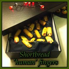 Shortbread 'human' fingers created by our chef Pat for our Halloween Corporate Night October, 2013 October 2013, Shortbread, Dublin, Fingers, Halloween, Night, Create, Kitchen, Food