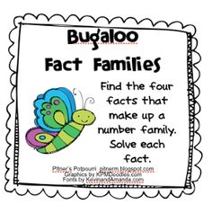 Classroom Freebies: Bugaloo! - Multiplication and Division Fact Families