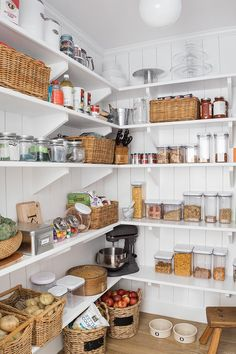 Pantry features shelves and vertical shiplap pantry Pantry features shelves and vertical shiplap pantry #Pantry #pantryshelves #verticalshiplap #pantry