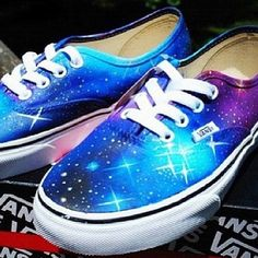 512106ff30a651 Stunning Galaxy Vans Shoes for Sale - Custom Galaxy Vans Shoes