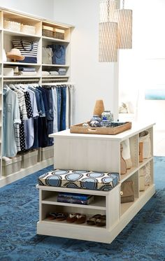 Master Closet island with Bench . Master Closet island with Bench . Closet Bench, Closet Storage, Bedroom Storage, Closet Organization, Smart Storage, Storage Ideas, Bench Storage, Diy Bench, Storage Design