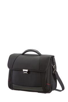 "Pro-DLX III Black Briefcase 2 Gussets 16"" #Samsonite #ProDLX #Travel #Suitcase #Luggage #Strong #Lightweight #MySamsonite #ByYourSide"