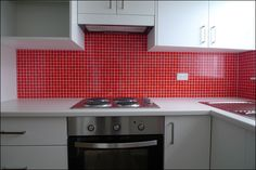 Red Kitchen, Splashback, Super Easy, Kitchen Cabinets, Cleaning, Content, Home Decor, Decoration Home, Room Decor
