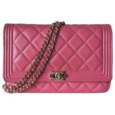 9ec383c47e18 Sacs à main Chanel WOC Chanel boy Cuir Rose ref.112898 - Joli Closet Chanel