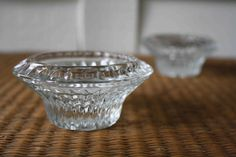 glass candleholders by silverbeevintage on Etsy, $18.00