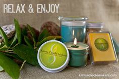 If you need to relax, we can set the mood!  Karma Candle Makers has several fragrances such as Simplicity, Lavender Pomegranate, Ocean and Green Clover and Aloe that will help you unwind.  Click www.karmacandlemakers.com to get yours now! $8.00 to $18.00