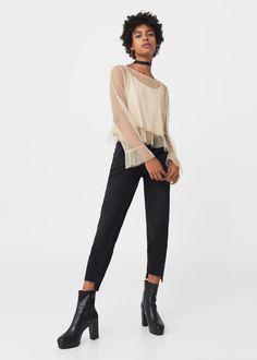 Frills tulle blouse | MANGO