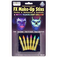 face painting? cosmic bowling party -Neon/Blacklight FX Make-Up Stix