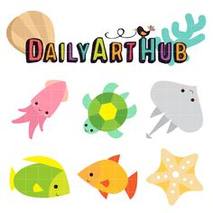 FREE Cute Sea Creatures Clip Art Set