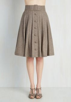 Intern of Fate Skirt in Latte. With a confident strut and clad in this profesh midi, you leave a fab first impression at the office! #tan #modcloth