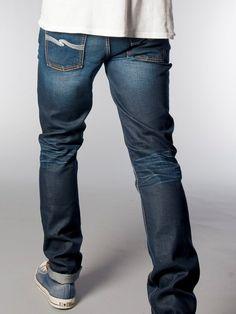Grim Tim Organic Steely Blues - Nudie Jeans Co Online Shop