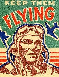 1940's - Keep Them Flying - Matchbook Advertising Poster