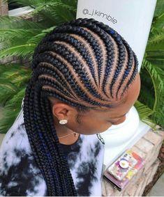 Cornrows for little girl - Best Cornrow Hairstyles Black Girl Braids, Braids For Black Hair, Girls Braids, Braids For Black Women Cornrows, Big Cornrow Braids, Braids For Black Women Box, Blue Box Braids, Plaits, Kids Braided Hairstyles