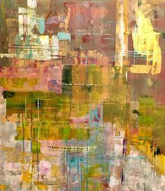 """arquitectura e reflexos 1""   acrílico sobre tela (70x80)"