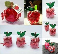 Upcycle plastic bottle teacher gift