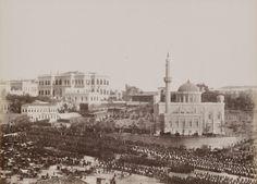 Yıldız'da Sultan II. Abdülhamid'in Selamlık Seremonisi Guillaume Berggren fotoğrafı