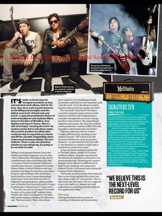 Total Guitar, octubre 2013 (avenged sevenfold a7x synyster gates zacky vengeance)