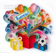 DIGITAL item Original Paper Quilling Art Surprise print Card print  Design Handmade Digital print Beautiful print Gift