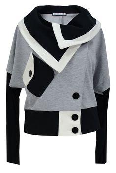 Aldona żakiet dresowy szary z kieszeniami #grey #outfit #jacket #fashion #autumn #outlet #shopnow