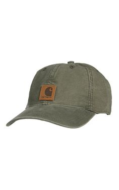 Carhartt Men\'s Army Green Washed Canvas Odessa Cap