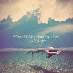 Stop struggling.