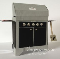 This BBQ grill box by Lorri Heiling of Confessions of a Stamping Addict is easy to make and so much fun.