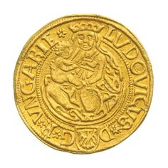 1 Forint - II. Lajos Louis II; 1516-1526 Landsknecht, Coins, Personalized Items, Gold, Hungary, Coining, Rooms