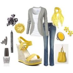 Gray and yellow.