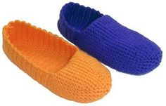 Free pattern: Easy, adjustable crochet slippers