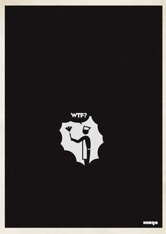 """Argentina-based Minga Creative - Studio came out with a funny and creative posters idea. They called the project """"WTF?"""" and after gaining success had to even make an addition of WTF Creative Artwork, Creative Studio, Creative Design, Simple Illustration, Graphic Design Illustration, Geeks, Imagine John Lennon, Thing 1, Beautiful Posters"""