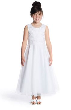 49ce18b13de Lauren Marie Embroidered Bodice Tulle Dress (Little Girls   Big Girls)