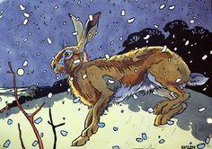 Winter Hare II by Andrew Haslen