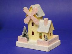 windmill putz project pattern...a simple pattern to make and add to paper putz house collection