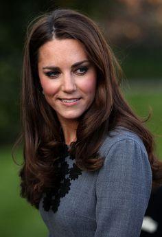 Kate Middleton dark brown hair color 2017