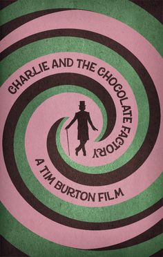 Charlie and the Chocolate Factory in 50 Creative and Minimal Movie Posters