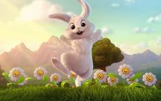 Happy Easter Images Wallpapers Greetings Status For Whatsapp Easter Bunny Wallpaper for Laptop Related Funny Easter Pictures, Funny Easter Bunny, Easter Bunny Pictures, Passover Images, Happy Easter Messages, Easter Wishes, Good Friday Images, Easter Bunny Colouring, Motif Tropical