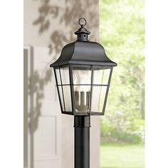 Quoizel Millhouse 21 And One Half Inch High Black Outdoor Post Light Backyard Lighting, Home Lighting, Outdoor Lighting, Lighting Ideas, Outdoor Lamp Posts, Outdoor Post Lights, Craftsman Lighting, Farmhouse Lighting, Exterior Wall Light