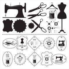 Could incorporate into branding Silhouette Cameo 4, Silhouette Portrait, Silhouette Design, Silhouette Images, Halloween Logo, Sewing Tattoos, Craft Room Signs, Sewing Crafts, Sewing Projects