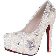 VELCANS Crystal Pearls and Rhinestone Womens Platform High Heels Bridal and Bridesmaid Shoes,Party Shoes,Wedding Shoes,Evening Shoes,Proms Shoes and Special Occasion Shoes for Pumps (8 B(M) US, Silver of White/High Heel:5.5 Inches) VELCANS http://www.amazon.com/dp/B00JDC9R7S/ref=cm_sw_r_pi_dp_WoJoub14VYPK6