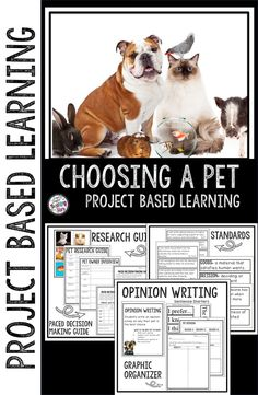 Project Based Learning: Choosing a Pet is an engaging hands PBL activity that will engage your elementary students. This fun activity will give your students the opportunity to think critically as they make decisions.  Students will learn how to make important decisions using the PACED Decision Making Guide. (third, fourth, fifth graders, Grade 3,4,5) #teachingthestars #tpt #teacherspayteachers