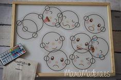 Caras de emociones para descargar - MamaMadera.es Light Table, Pre School, Preschool Activities, Crafts For Kids, Kids Rugs, Crafty, Lightbox, Apple Inc, Wellness Tips