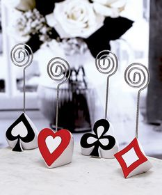 winietki karciane/ FashionCraft Poker Themed Place Card Holders #wedding