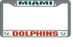 miami dolphins chrome license plate frame for eric pinterest miami dolphins license plates and miami - Miami Dolphins License Plate Frame